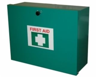 First Aid Kit for 6-25 people, metal box