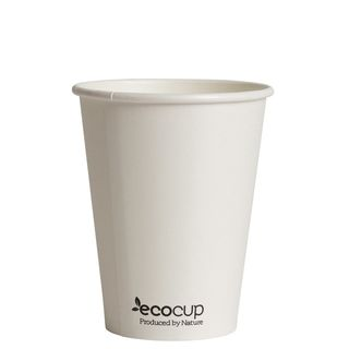 Hot Cup PLA Single Wall 12oz White - Ecoware