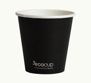 225mL Single Wall EcoCup (80mm) FSC® MIX BLACK - Ecoware