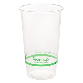 700ml Clear Cold Cup PLA Green Logo  - Ecoware