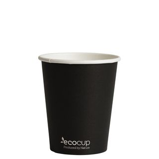 Hot Cup PLA Single Wall 8oz Black 80mm - Ecoware