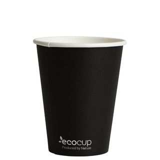 Hot Cup PLA Single Wall 12oz Black - Ecoware - Pack 50