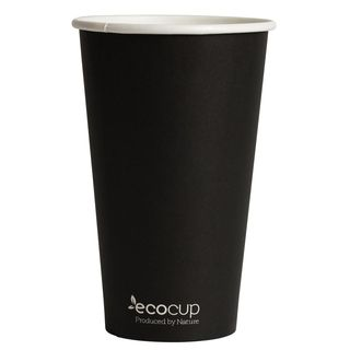 Hot Cup PLA Single Wall 16oz 90mm Black- Ecoware