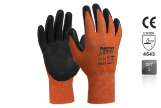 RAZOR X550 Nitrile coated Cut Resistant Level5 Orange - Esko