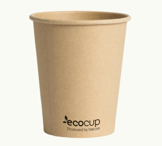 285mL Single Wall EcoCup (80mm) KRAFT- Ecoware