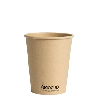 Hot Cup PLA Single Wall 8oz Kraft 80mm - Ecoware