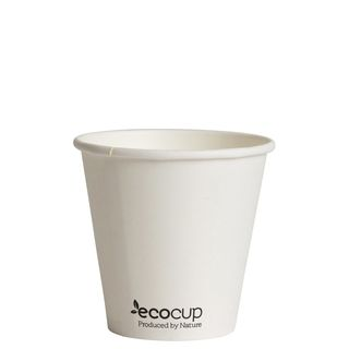 Hot Cup PLA Single Wall 8oz Uni-Cup 90mm White - Ecoware