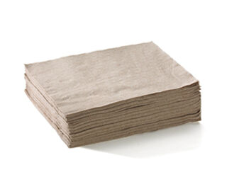 Lunch Napkin 1 Ply (1/4 Fold) Natural - BioNapkin
