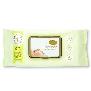 Compostable Baby Wipes Fragrance-Free - Little Genie