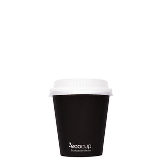 Hot Cup PLA Single Wall Black 4oz 60mm - Ecoware