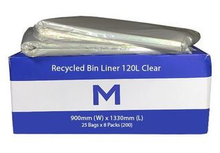 Small Wheelie Bin Liner 120L Clear - Matthews