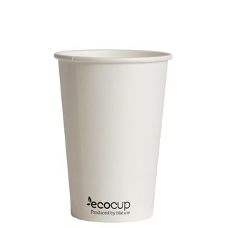 Hot Cup PLA Single Wall 10oz White (80mm) - Ecoware