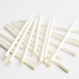 3Ply Drinking Straws REGULAR PLAIN WHITE  - Epicure