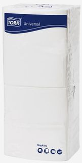 Tork Universal Napkins 1 Ply Luncheon White 320X315
