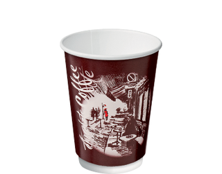 12oz Cafe Montmartre Double Wall Paper Hot Cup - Castaway