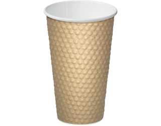 16oz Brown Dimple' Paper Hot Cup - Castaway
