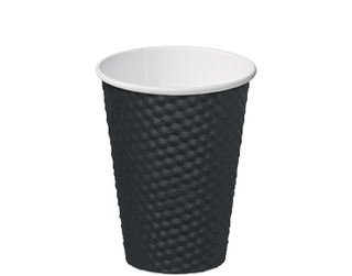 12oz Black Dimple' Paper Hot Cup - Castaway