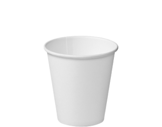 8oz White Single Wall Paper Hot Cup - Castaway