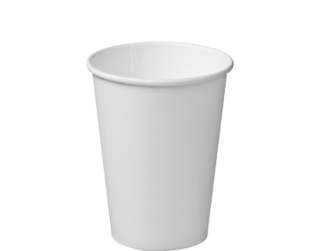 12oz White Single Wall Paper Hot Cup - Castaway