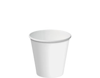 6oz White Single Wall Paper Hot Cup - Castaway
