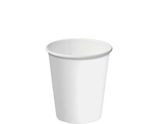 8oz White Single Wall Paper Hot Cup w/Classic Lid - Castaway