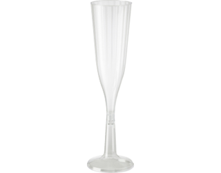 144ml Elegance' Champagne Flute, Two piece construction, Clear - Castaway