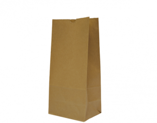 #8 SOS Paper Bags, flat bottom, Brown - Castaway