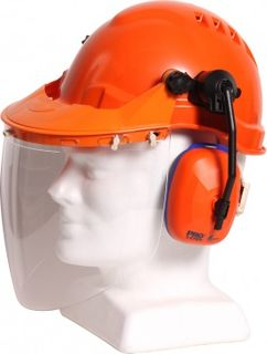 Hard Hat Combo with Clear Visor available with any TN1R Hard Hat - Esko