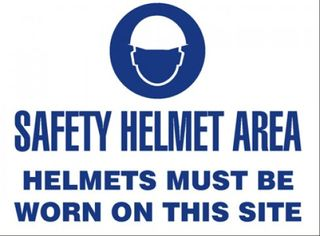 Hardhat Safety Sign, Corflute, 600 x 450mm - Esko