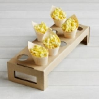 Cone display 10 hole tray 44 x 15 x 9cm - Vegware