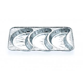 3 Cavity Croissant Tray - Confoil