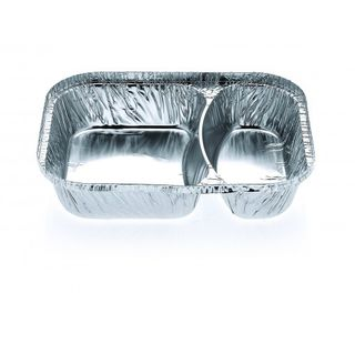 2 Compartment Meal Tray - Confoil