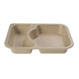 2 Cavity Shallow Meal Tray  - Confoil