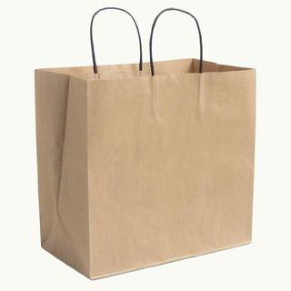 Kraft Bags with Black Twisted Handles - Ecoware