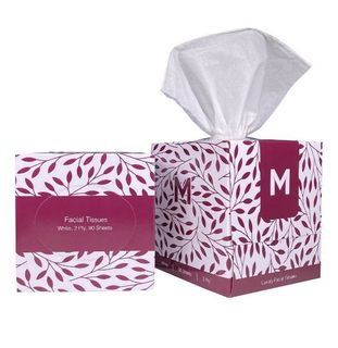 Cube Facial Tissues - White, 2 Ply, 90 Sheets - Matthews