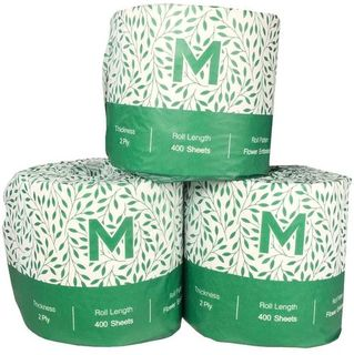 Recycled Wrapped Toilet Tissue - White, 2 Ply, 400 Sheets  - Matthews