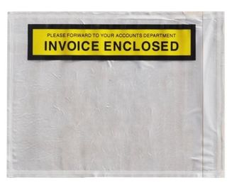 Adhesive Labelope Invoice Enclosed - White, 115mm x 150mm - Matthews