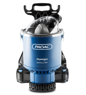 PACVAC SUPERPRO BATTERY BACKPACK VACUUM CLEANER - Filta