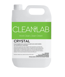 CRYSTAL - plant-based eco hand cleaner and moisturiser fragrance free, pearlised - CleanLab
