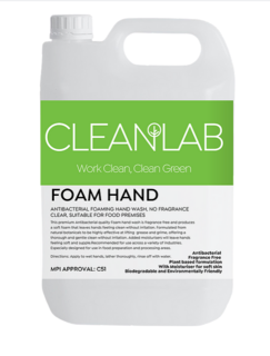 FOAM HAND - antibacterial foaming hand wash fragrance free, clear - CleanLab