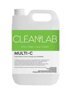 MULTI-C - citrus spray & wipe cleaner ready to use, multipurpose - CleanLab