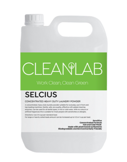 SELCIUS 20 KGS - concentrated heavy duty laundry powder fragrance free - CleanLab