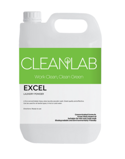 EXCEL 20kg - premium concentrated heavy duty laundry powderfragranced - CleanLab