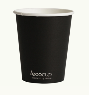 285mL Single Wall EcoCup (80mm) FSC® MIX BLACK - Ecoware