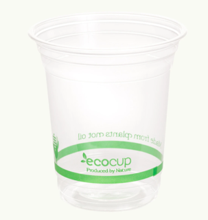 420ml Clear Cold Cup PLA Green - Ecoware