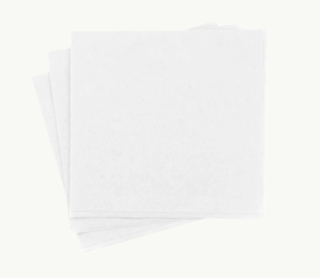 White EcoNapkin - 4 Fold Lunch 150mm x 150mm - FSC' MIX - Ecoware