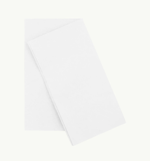 White EcoNapkin - 8 Fold Quilted Lunch 75mm x 145mm - FSC' RECYCLED - Ecoware