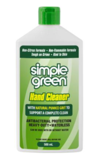 Hand Cleaner Gel 500ml Squeeze bottle - Simple Green