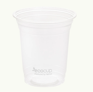 420ml Clear Cold Cup PLA White - Ecoware