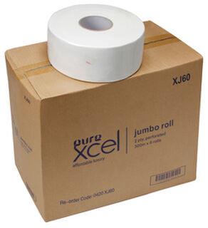 Jumbo toilet rolls 2ply 300m - PureElite